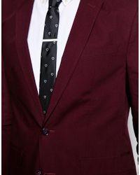 ASOS | White Tie Bar In Skinny Fit for Men | Lyst