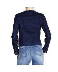 Pinko | Blue Jacket Woman | Lyst