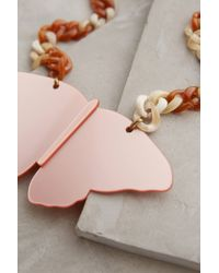 Anthropologie | Pink Caligo Butterfly Necklace | Lyst