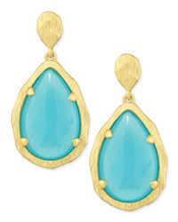 Panacea - Green Teardrop Earrings - Lyst