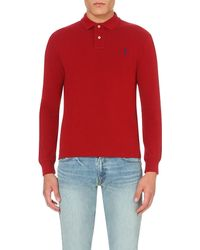 Ralph Lauren | Red Slim-fit Cotton-piqué Polo Shirt for Men | Lyst