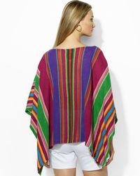 Ralph Lauren - Multicolor Stripe Poncho - Lyst