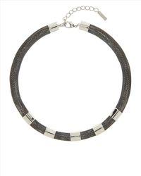 Jaeger   Gray Tubular Necklace   Lyst