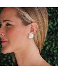 Yvel - Metallic Baroque Freshwater Pearl Earrings - Lyst