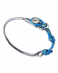 Anchor & Crew | All Blue & Silver Navigation Wharf Bangle for Men | Lyst
