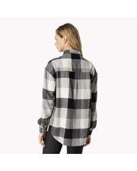 Tommy Hilfiger | Black Cotton Check Shirt | Lyst