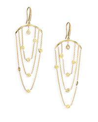 Ron Hami | Metallic Rain Diamond & 18k Yellow Gold Draped Organic Drop Earrings | Lyst