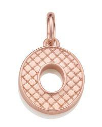 Monica Vinader | Pink Rose Gold-plated Alphabet Pendant O | Lyst