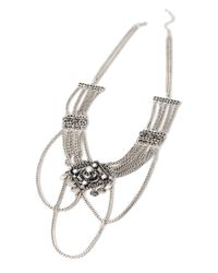 Forever 21 | Metallic -inspired Faux Stone Necklace | Lyst