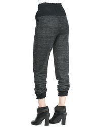 Rag & Bone - Black Owen Solid-top Melange Sweatpants - Lyst