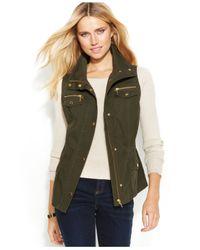 INC International Concepts - Green Zip-Front Anorak Vest - Lyst