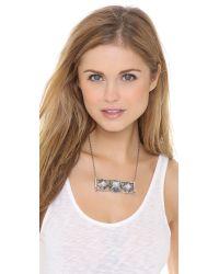 Pamela Love - Metallic Step Breastplate Necklace - Lyst