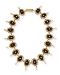 Givenchy | Black Oval Crystal And Pearly Necklace for Men | Lyst