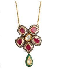 Amrapali | Red Diamond And Ruby Pendant Necklace | Lyst