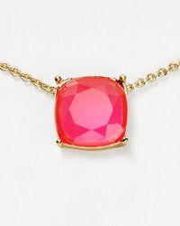 "kate spade new york - Pink Cause A Stir Mini Pendant Necklace, 14"" - Lyst"
