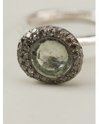 Rosa Maria - Metallic Beenut Diamond Prasolite Ring - Lyst