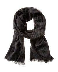 Banana Republic - Gray Factory Houndstooth Scarf for Men - Lyst