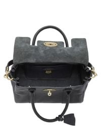 Mulberry | Black Small Bayswater Natural Leather Bag | Lyst