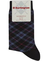 Smythson | Black Shoreditch Tartan Socks | Lyst