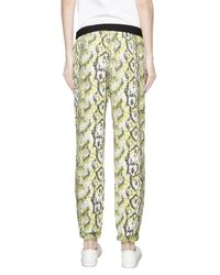 French Connection - Multicolor Tapered Snakeskin-print Trousers - Lyst