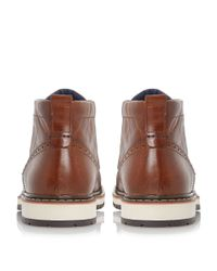Dune | Brown Champion Leather Sporty Sole Boots for Men | Lyst