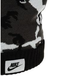 Nike - Black Camo Beanie With Pom-pom for Men - Lyst