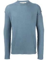 Marni - Blue Exposed Seam Sweater for Men - Lyst