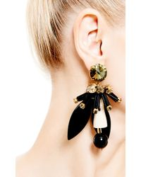 Marni | Black Resin and Crystal Earrings | Lyst