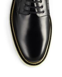 Fendi - Black Leather Lace-up Hunting Shoes for Men - Lyst