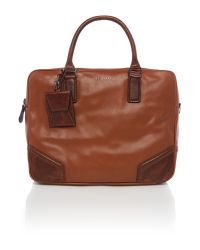 Ted Baker | Brown Sor Leather Satchel for Men | Lyst
