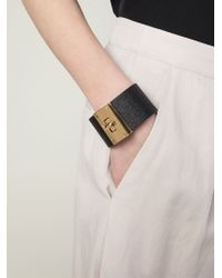 Marc By Marc Jacobs | Black Buckled Cuff | Lyst