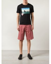 Raf Simons - Red Wide Leg Shorts - Lyst