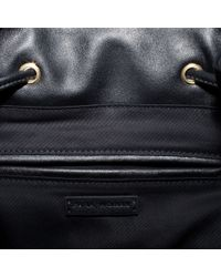 Zara   Black Bucket Bag with Metal Detailing   Lyst