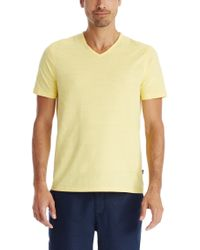 BOSS - Yellow 'eraldo ' | Pima Cotton V-neck T-shirt for Men - Lyst