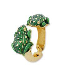 Kenneth Jay Lane | Green Frog Bracelet | Lyst