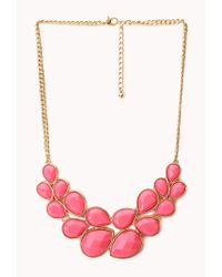 Forever 21 | Pink Statement Bib Necklace | Lyst