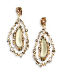Alexis Bittar | Metallic Imperial Lucite, Black Moonstone & Crystal Orbital Clip-On Earrings | Lyst