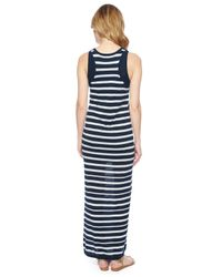 Splendid | Blue Double Layer Stripe Dress | Lyst