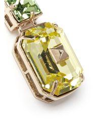 Valentino | Metallic Bi-colour Rhinestone Earrings | Lyst