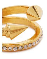Vita Fede - Metallic Ultra Mini Titan Gold-plated Swarovski Ring - Lyst