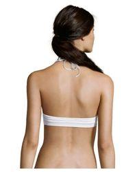 Vitamin A | White Lace 'Ana' V-Neck Halter Bikini Top | Lyst