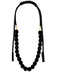 Marni - Black Rope Balls Necklace - Lyst