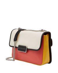 Marc By Marc Jacobs | Pink Rebel Color-block Leather Shoulder Bag - Multicolor | Lyst