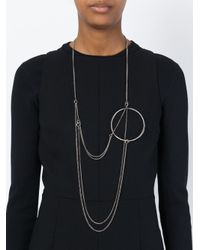 Ann Demeulemeester | Metallic Chain And Circle Necklace | Lyst