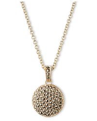 Judith Jack - Metallic Double Sided Marcasite Pendant Necklace - Lyst