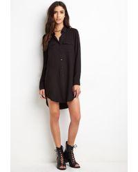 Forever 21 | Black Utility Shirt Dress | Lyst