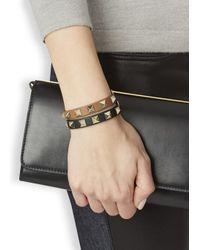 Valentino - Brown Rockstud Mini Caramel Leather Bracelet - Lyst