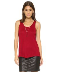 BB Dakota - Red Jack By Shire Scallop Lace Trim Top - Chili Pepper - Lyst