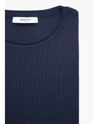 Mango - Blue Ribbed Sweater - Lyst