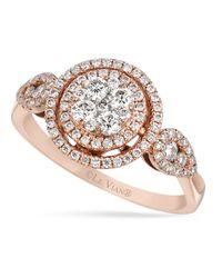 Le Vian - Pink Diamond Diamond Circle Ring (5/8 Ct. T.w.) In 14k Rose Gold - Lyst